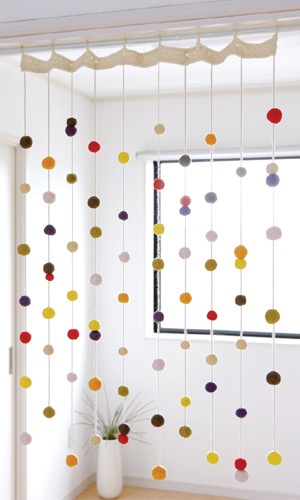 felt ball curtain